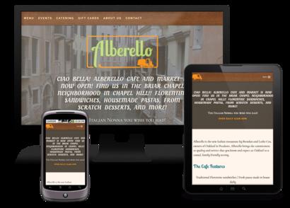 Alberello Device Mock-Ups